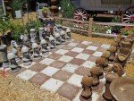 Large concrete chess set