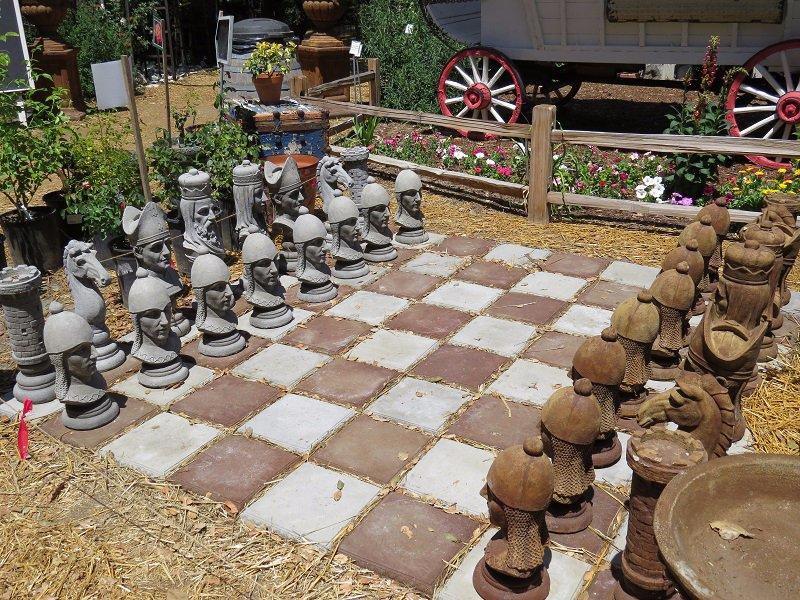 Large Concrete Chess Set ...