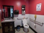 One of a kind auto repair restroom
