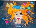 ArtSplash -Chalk Art Orange Hair