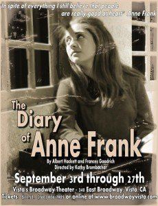 The Diary of Anne Frank plays at Broadway Vista Theater @ Vista's Broadway Theater | Vista | California | United States