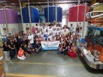 Dr Bronner Family, employees, Vista Chamber and dignitaries group photo