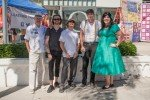 Mayor Jim Wood > Bryan Kelly, guitarist > Mike Diaz, drummer > Andrew Verdugo, upright bass > Celeste Barbier, vocalist