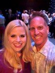 Megan Hilty with Kent Leithold from the Vista COC (from his Facebook page)