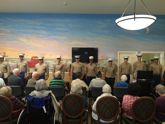 HNCMarines Honor Veterans