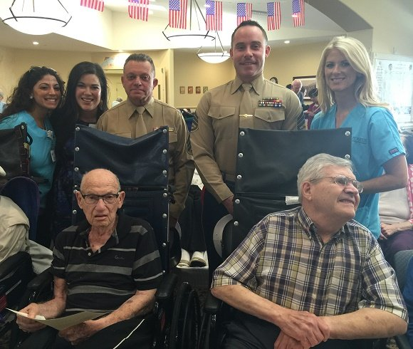 HNCVeterans with Marines, HNC and ActivCare Staff