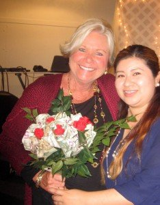 Soroptimist International of Vista President Dee Dee Timmons and Live Your Dream award winner Vicki Gonzalez at awards gala on Feb. 27, 2016