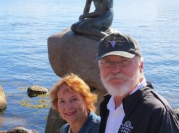 R and Carolyn and the famous LIttle Mermaid statue.