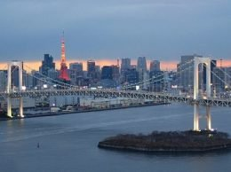 A view of downtown Tokyo.
