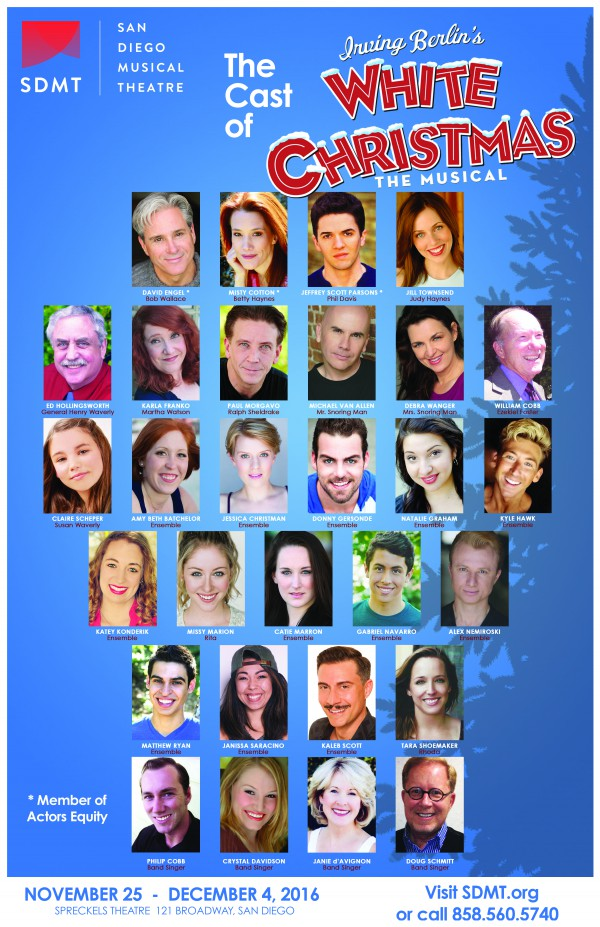 The Cast Of White Christmas.Irving Berlin S White Christmas Cast The Vista Press The