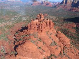 Seeing Bell Rock from the air.