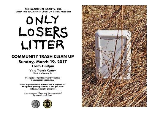 Only Losers Litter @ Vista Transit Center